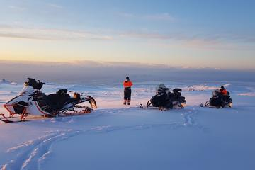 Snowmobiling on Eyjafjallajökull