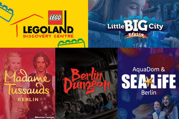 Berlin Attraction Ticket: Madame Tussauds, Dungeon, AquaDom & SEA LIFE, LEGOLAND Discovery Centre, Little Big City