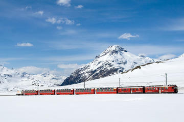 LAKE COMO, ST MORITZ AND BERNINA EXPRESS TRAIN