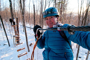Book Winter Ziplines and Tree Course Mont-Tremblant on Viator
