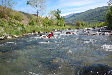 Toobing on the Sarca River