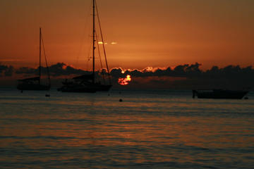 Guadeloupe sunset sail