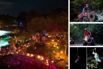 Xtour Night Atventure: ATV, Zipline, Cenotes with a Cocktail