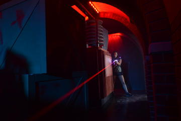 Lazer Tag at Game Over on the Gold...