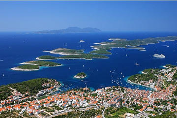 Day trip from island Vis to Hvar town and Pakleni islands archipelago