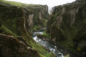 Amazing Fjadrargljufur Canyon, Fagrifoss waterfall and secret volcanic craters