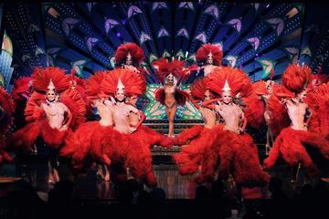 Sen kvällsföreställning av Moulin Rouge med champagne