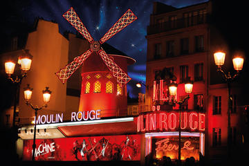 Show på Moulin Rouge, Paris