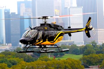 Helikopterflygning över New York: Grand Island