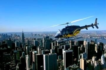 Rundtur i skyn över Manhattan: Helikopterflygning över New York