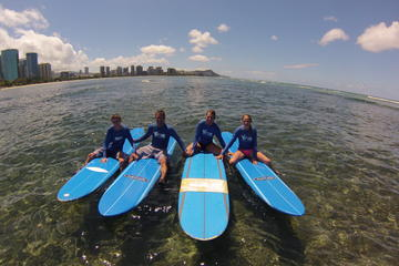 Oahu Surf Lessons: Class and Equipment at Ala Moana Beach with...