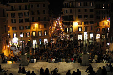 Rondleiding door Rome bij avond, inclusief diner