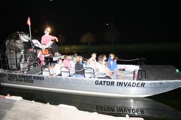 Aventura con hidrodeslizador en Florida por la noche