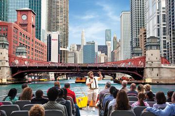 Crucero arquitectónico por el río Chicago y el lago Michigan en...