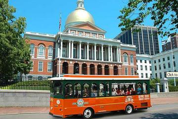 Hop-on-Hop-off-Trolley-Tour durch Boston mit Hafenrundfahrt