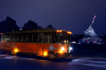 Washington DC trolleybustour van de monumenten bij maanlicht