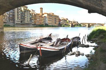 Florenz Rundfahrt auf einem traditionellen Barchetto