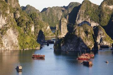 Abenteuer-Tour in kleiner Gruppe in der Halong-Bucht mit Bootsfahrt...