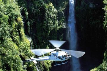 ハレアカラ クレーターの上空を飛ぶ東マウイ45分間ヘリコプターツアー