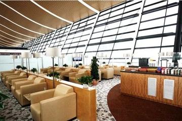 Lounge am internationalen Flughafen Shanghai Pudong oder Hongqiao