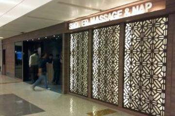 Plaza Premium Lounge (llegadas) en el Aeropuerto Internacional Gandhi