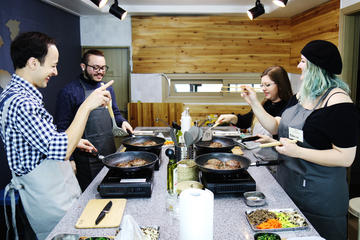 Small-Group Korean Cooking Class in...