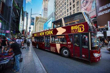 乗り降り自由のニューヨーク市内観光ビッグ バス…
