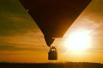Ballongtur i solnedgången i Las Vegas