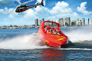 ゴールド コースト ヘリコプター遊覧飛行とジェットボート遊覧
