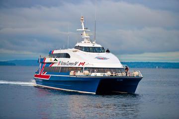 Ferry grande vitesse pour passagers au départ de Victoria, British...