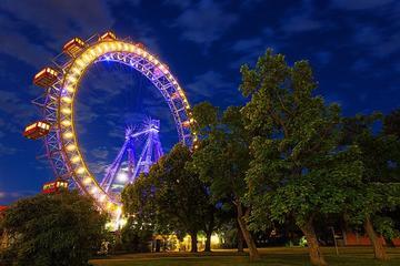 Inträdesbiljett till det enorma pariserhjulet Wiener Riesenrad i Wien