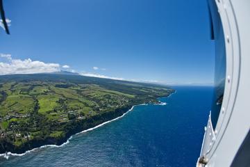 Passeio de helicóptero pelo vulcão e pouso em Kohala na Big Island