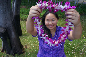 Traditional Airport Lei Greeting in Honolulu Oahu