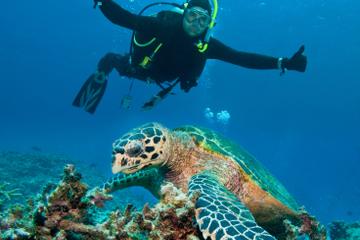 Mergulho com scuba com dois tanques em Big Island