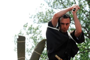 Japanese sword cutting