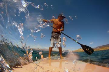 Clase de surf de remo en el lago Mead