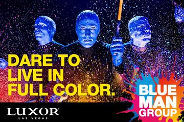Blue Man Group in het Luxor Hotel en Casino