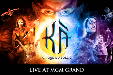 KÀ™ door Cirque du Soleil® in het MGM Grand hotel en casino