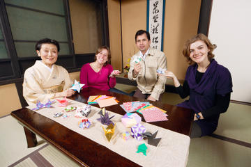 Kyoto Small-Group Calligraphy or Origami Class