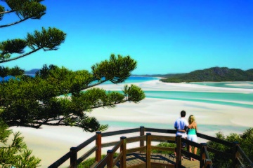 Whitehaven Beach: Bootstour mit Spaziergang durch Hill Inlet