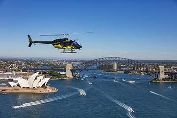Excursão de helicóptero em Sidney...