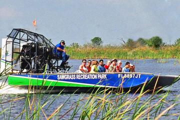 Aventura en hidrodeslizador en los Everglades de Florida y entrada...