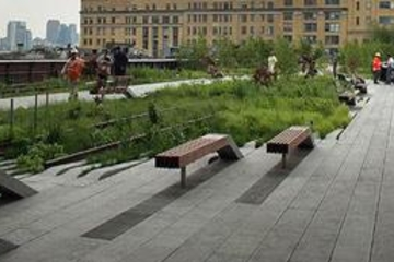 Rundtur till fots i New York High Line Park