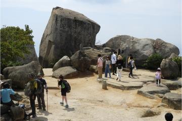Climbing mountain-Misen in Miyajima with a Guide