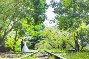 Kyoto Location Photo Wedding in Western Dress
