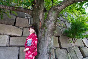 Plan de kimono para caminar cerca del...