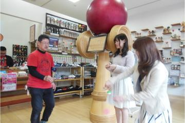 Touring Aki Province - Lean how to play kendama at the kendama workshop