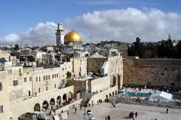 Excursion privée en bord de mer au départ d'Ashdod: Jérusalem et Mur...
