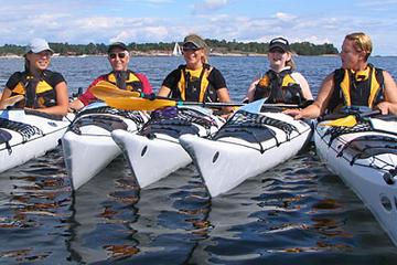 Excursion en kayak dans l'archipel de Stockholm