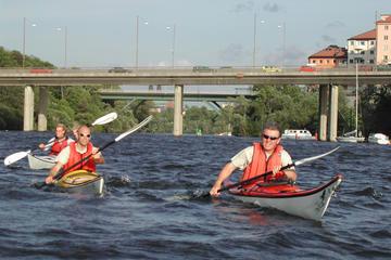 Tour del centro della città di Stoccolma in kayak